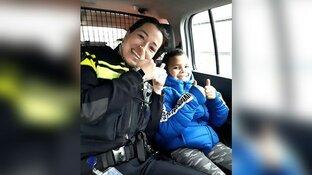 Jonge judoka haalt gele band dankzij lift van politie