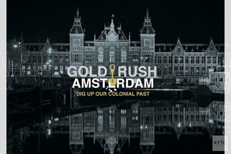 Goudklompen verstopt in de straten van Amsterdam