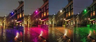 Reguliersdwarsstraat in kleuren van de regenboog