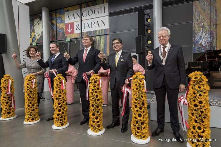 Koning Willem-Alexander opent tentoonstelling Van Gogh & Japan