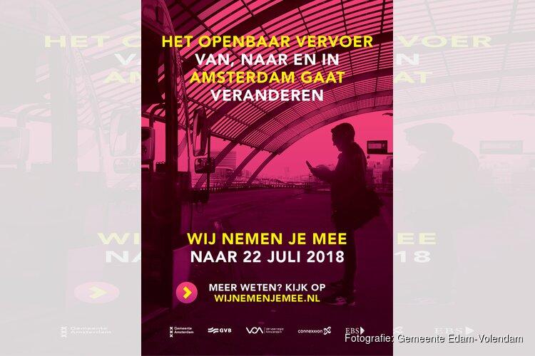 Op 22 juli verandert het openbaar vervoer in de regio Amsterdam