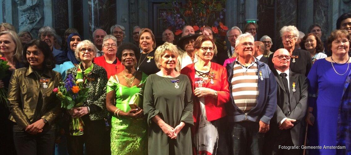 Lintjesregen gemeente Amsterdam 2018