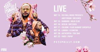 Pete Philly trapt 13 oktober Europese tour af in Melkweg