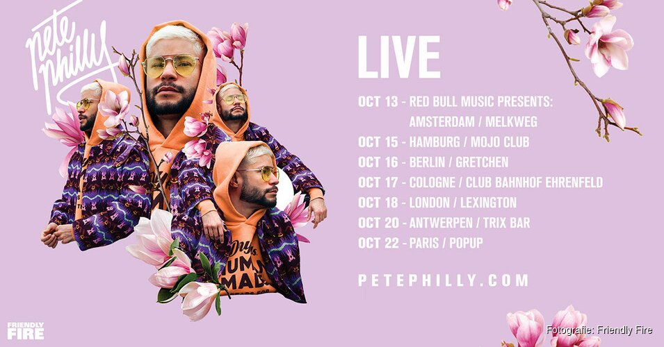 Pete Philly trapt 13 oktober Europese tour af in Melkweg