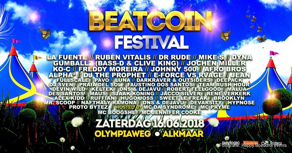 Beatcoin Festival 16 juni naar Alkmaar