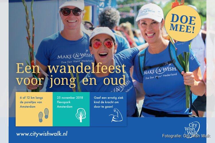 Make-A-Wish organiseert nieuw wandelevenement in Amsterdam