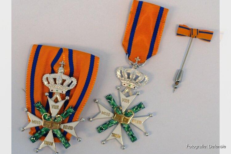 Uitreiking Militaire Willems-Orde aan majoor-vlieger Roy de Ruiter