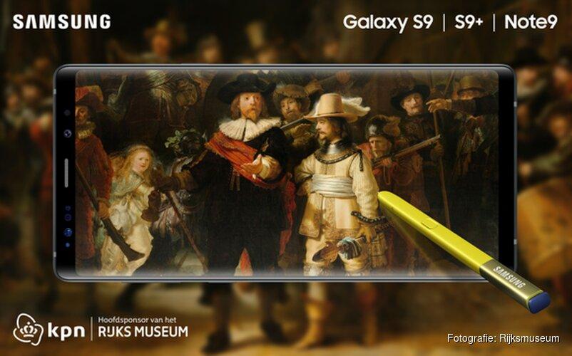 KPN en Samsung lanceren Hollandse meesterwerken Rijksmuseum op Galaxy smartphones