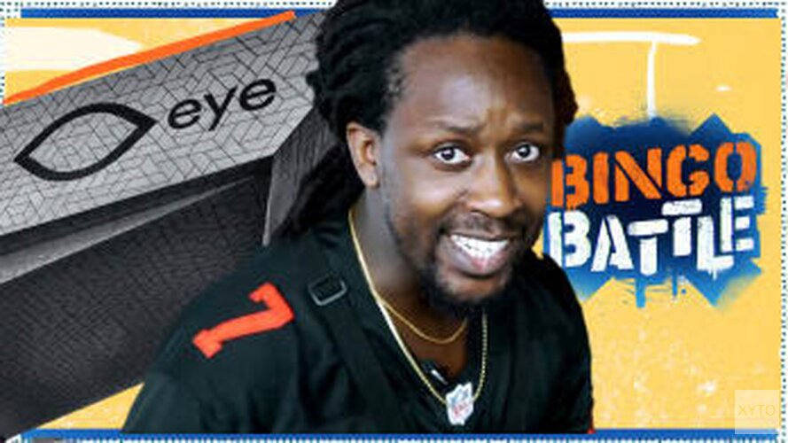 Rapper Akwasi doet de Bingo Battle in Eye Filmmuseum in Amsterdam
