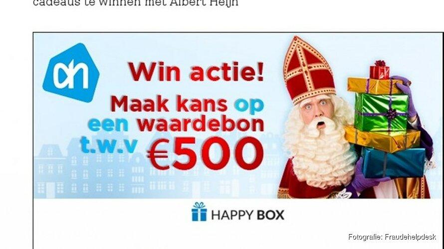 Criminelen misbruiken Sinterklaas en supermarkt voor oplichtingstruc