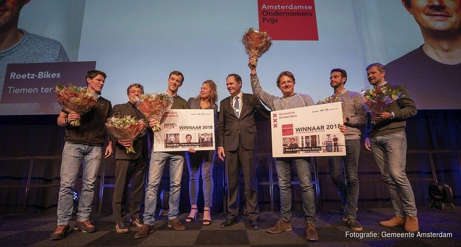 Winnaars Amsterdamse Ondernemersprijs 2018 en DAM prijs 2018 bekend