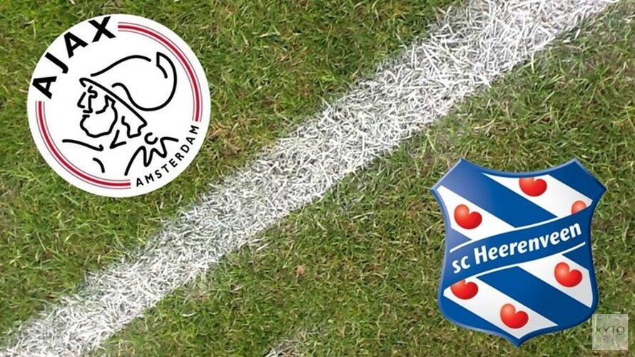 Ajax-Heerenveen in kwartfinale beker