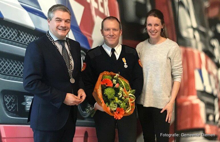 Koninklijke onderscheiding brandweerman Sjaak Groot