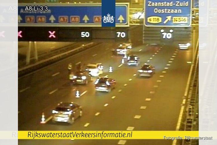 Enorme files op A8 en A7 richting Amsterdam na ongelukken