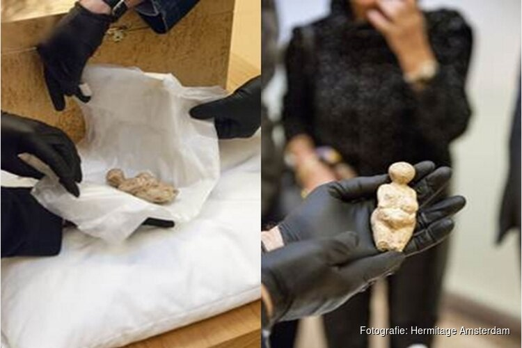 Aankomst prehistorisch object in Hermitage Amsterdam: 25.000 jaar oude Venus van Kostjonki