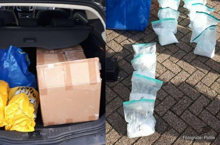 Man met 24 kilo ketamine van de weg bij Badhoevedorp gehaald
