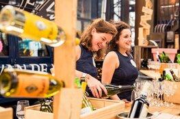 'WineFlight-bar' op Amsterdam Wine Festival in samenwerking met De Meisjes van de Wijn