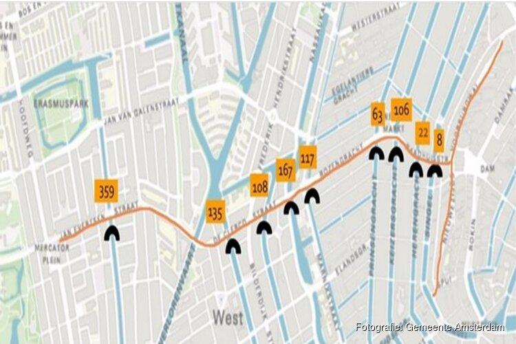 Vernieuwing negen bruggen Raadhuisstraat – Mercatorplein
