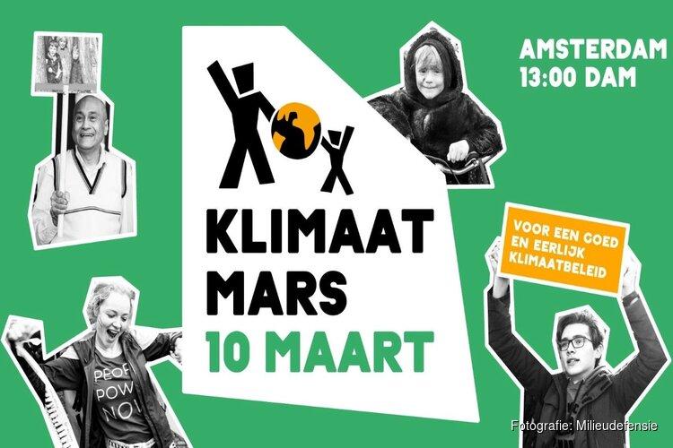 Tienduizenden lopen vanmiddag klimaatmars in Amsterdam