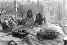 In bed met John Lennon