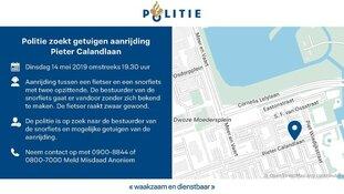 Politie zoekt getuigen aanrijding Pieter Calandlaan