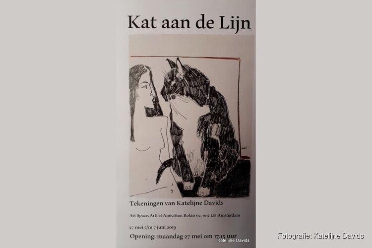 """""""Kat aan de lijn"""" Tekeningen van Katelijne Davids bij Artspace"""