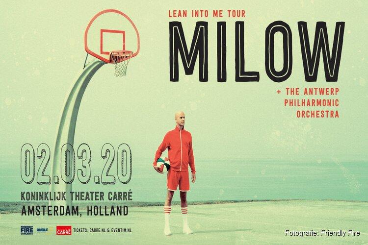 Milow viert tienjarige carrière met het Antwerp Philharmonic Orchestra in Carré
