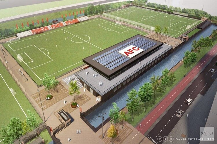 Nieuw sportpark en nieuw clubgebouw voor voetbalvereniging AFC op de Zuidas