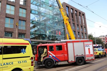 Bouwvakker gewond na val in pand Amsterdam