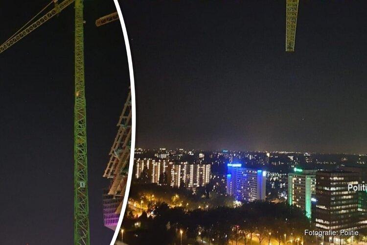 Politie haalt twee jongens uit 80 meter hoge hijskraan