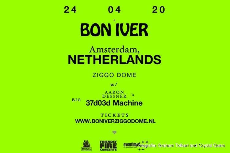 Bon Iver op 24 april naar Ziggo Dome