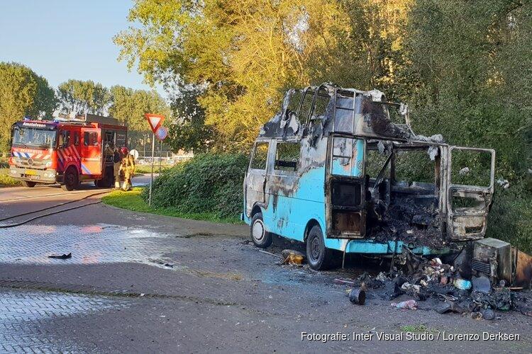 Camper in brand in Amstelveen