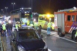Zwaargewonde bij ernstige aanrijding op A10 Noord bij Amsterdam