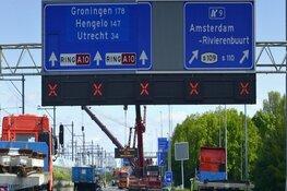 Eerste weekend november: A10 Zuid dicht, geen treinen Zuid-RAI