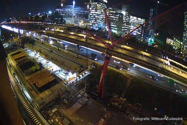 Werkzaamheden Zuidasdok van start: A10 Amsterdam-Zuid drie dagen dicht