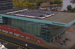 964 zonnepanelen op dak Muziekgebouw aan 't IJ en BIMHUIS