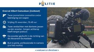 Getuigenoproep: Cameraploeg beroofd van televisiecamera