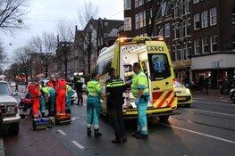 Bestuurder brombakfiets gewond na ongeluk op Rozengracht Amsterdam