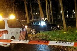 Auto achtergelaten na ongeluk