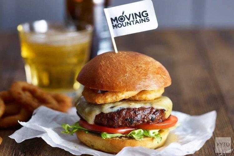 Eerste'bloedende' vegan burger en saucijs in de supermarkt; Moving Mountains®