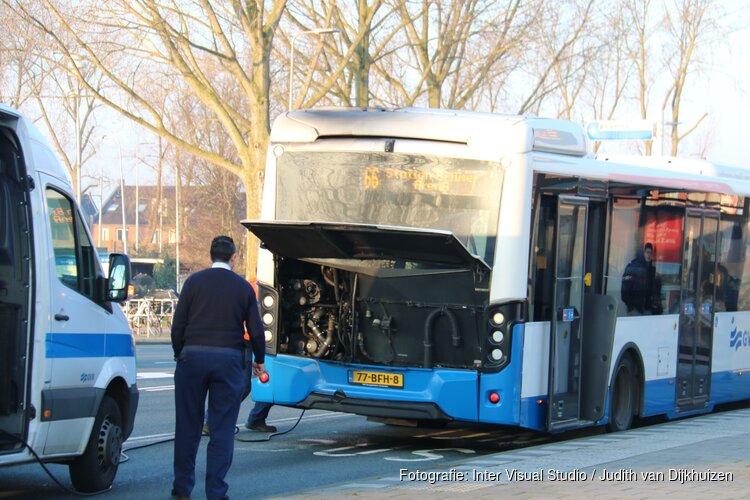 Brand in bus in Diemen