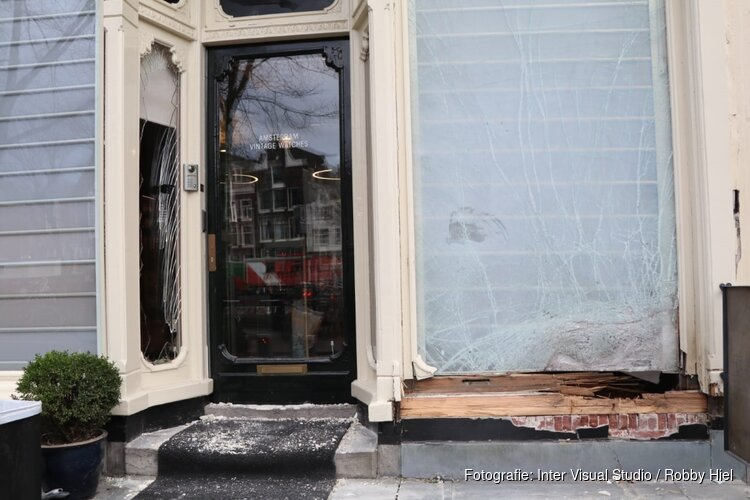 Explosief gebruikt bij inbraak in horlogewinkel centrum Amsterdam