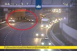 A4 richting Amsterdam grotendeels dicht na ongeluk bij knooppunt Badhoevedorp