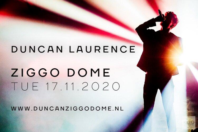 Concert Duncan Laurence in Ziggo Dome verplaatst naar 17 november 2020