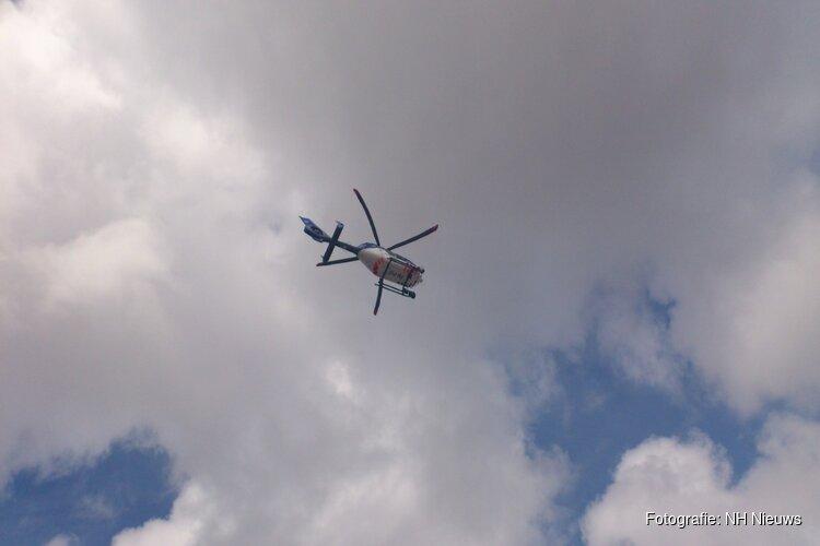 Politiehelikopter zoekt overvaller in Amsterdam-West