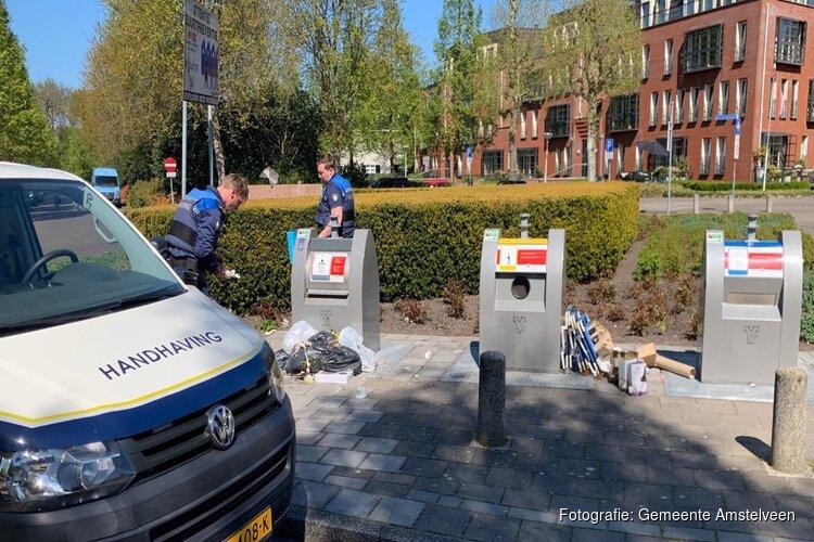 Boetes uitgedeeld voor dumpen afval op Amsterdamseweg