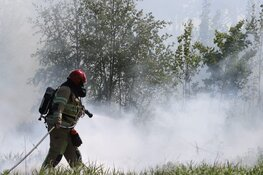 Groot stuk buitengebied in brand tussen Diemen en Muiden