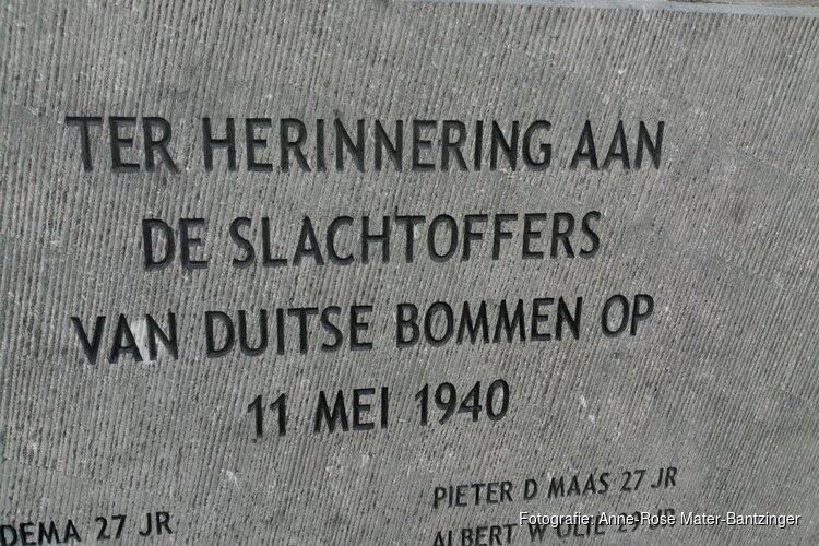 Bombardement 1940 Blauwburgwal herdacht