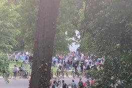 Feest in Vondelpark afgebroken na tussenkomst politie