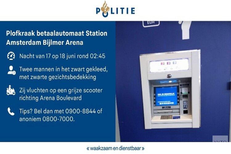 Plofkraak Station Amsterdam Bijlmer Arena